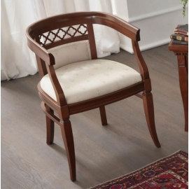Кресло Palazzo Ducale Ciliegio Prama с тканевой обивкой 71CI01PL02