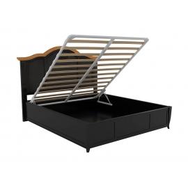 Кровать 140x200 с подъемным механизмом Classico Italiano Тиволи, черная B202ПМ/BLS