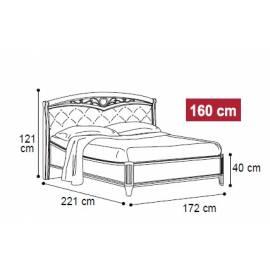 Кровать Nostalgia Camelgroup Bianco Antico 160 с ковкой и обивкой, без изножья