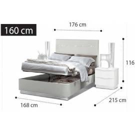 Кровать Legno Onda Camelgroup 160, с контейнером