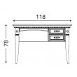 Письменный стол правый 2 ящика Palazzo Ducale Ciliegio Prama 71CI04SR - Фото 2