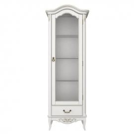 Витрина 1-дверная правая с зеркальной задней стенкой Classico Italiano Тиволи, молочная B601.1/BGY