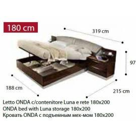 Кровать Onda Walnut Camelgroup 180 с контейнером