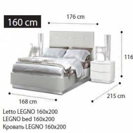 Кровать Legno Onda Walnut Camelgroup 160x200 см