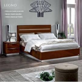 Кровать Legno Onda Walnut Camelgroup 160, с контейнером