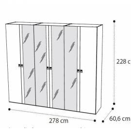 Шкаф 6 дверный Onda Walnut Camelgroup с зеркалами