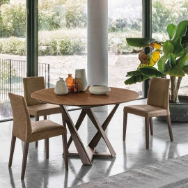 Стол обеденный Target Point Cronos Wood 130 см, круглый, раскладной, TP1B0