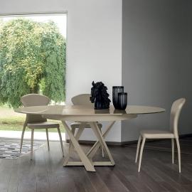 Стол обеденный Target Point Cronos D130 (200х130) см, круглый, раскладной, TA1B0