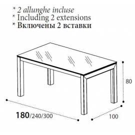 Стол обеденный 180 La Star Ivory day Camelgroup, прямоугольный