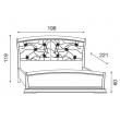 Кровать с кожаным изголовьем и изножьем Palazzo Ducale Laccato Prama 180 см - Фото 6