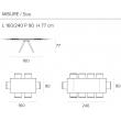 Стол обеденный Target Point Prometeo 160(240)х90 см, раскладной, TA1C8 - Фото 6