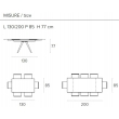 Стол обеденный Target Point Prometeo 130(200)х90 см, раскладной, TA1C7 - Фото 5