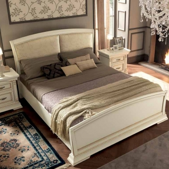 Кровать Palazzo Ducale Laccato Prama 140х200 с мягким изголовьем и изножьем 71BO13LT