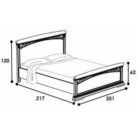 Кровать с изножьем 180 Treviso night Camelgroup