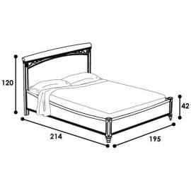 Кровать без изножья 180 Treviso night Camelgroup