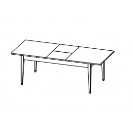 Обеденный стол 180/230х76 Salerno Fratelli Barri, раздвижной, FB.DT.SL.659
