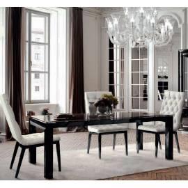 Стол обеденный 180/320 La Star Black Camelgroup, прямоугольный раздвижной