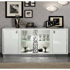 Прилавок Roma Bianco Camelgroup, четырёхдверный со стёклами