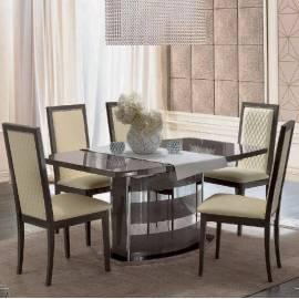 Обеденный стол 160/205 Platinum Camelgroup, малый овальный раздвижной