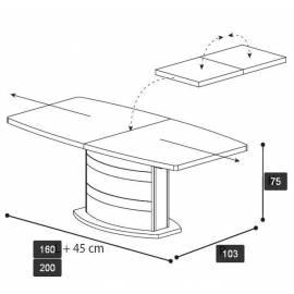 Обеденный стол Platinum Camelgroup,160 см