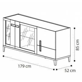 Буфет Ambra Day Camelgroup, трёхдверный с стеклянными дверями