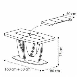 Обеденный стол 160 см Ambra Day Camelgroup