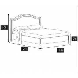 Кровать Nostalgia Ricordi Camelgroup 90х200