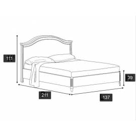 Кровать Nostalgia Ricordi Camelgroup 120х200 без ковки