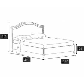 Кровать Nostalgia Ricordi Camelgroup 160х200 без ковки