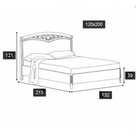 Кровать Nostalgia Ricordi Camelgroup 120х200 с ковкой