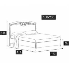 Кровать Nostalgia Ricordi Camelgroup 140х200