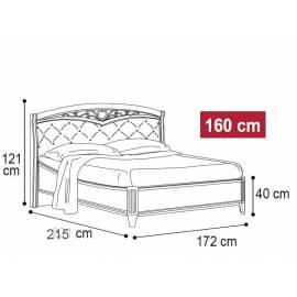 Кровать Nostalgia Ricordi Camelgroup 160 мягкое изголовье