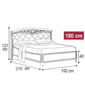 Кровать Nostalgia Ricordi Camelgroup 180 мягкое изголовье