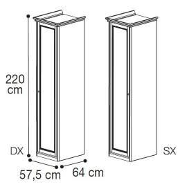 Шкаф 1-дверный низкий Nostalgia Camelgroup