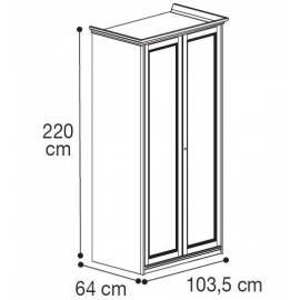Шкаф 2-дверный низкий Nostalgia Camelgroup
