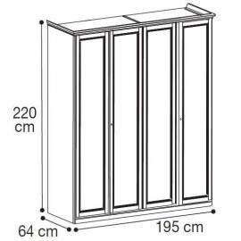 Шкаф 4-дверный низкий Nostalgia Camelgroup
