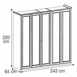 Шкаф 5-дверный низкий Nostalgia Camelgroup