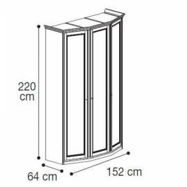 Шкаф 3-дверный низкий модульный Nostalgia Camelgroup