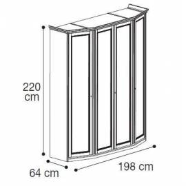 Шкаф 4-дверный низкий модульный  Nostalgia Camelgroup