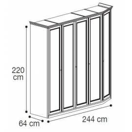 Шкаф 5-дверный низкий модульный Nostalgia Camelgroup