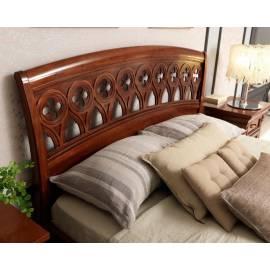 Кровать 140х200 Palazzo Ducale Ciliegio Prama by Bakokko с резным изголовьем и изножьем; 71CI03LT