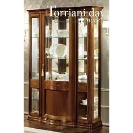 Витрина 3-дверная Torriani Day Camelgroup, узкая, с зеркалом