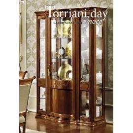 Витрина 3-дверная Torriani Day Camelgroup, узкая, с тканью