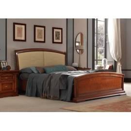 Кровать с кожаным изголовьем и изножьем Palazzo Ducale Ciliegio Prama 180 см