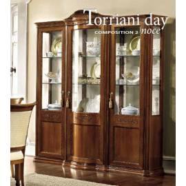 Витрина 3-дверная Torriani Day Camelgroup, с тканью