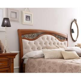 Кровать с мягким изголовьем ковкой и изножьем Palazzo Ducale Ciliegio Prama 140 см