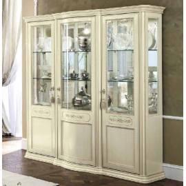 Витрина 3-дверная Torriani Day Avorio Camelgroup, с зеркалом