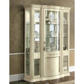 Витрина 3-дверная Torriani Day Avorio Camelgroup, узкая, с зеркалом