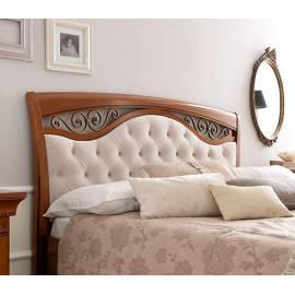 Кровать Palazzo Ducale Ciliegio Prama 140х200 с мягким изголовьем ковкой без изножья 71CI73LT