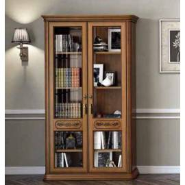 Библиотека 2 дв. Torriani Noce Camelgroup, двери стекло, полки стекло